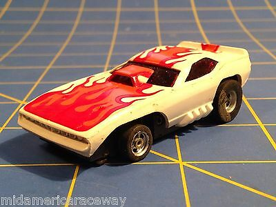 magna-steer chassis AFX AURORA  FLAMING /'CUDA  RED// WHITE NEW OLD STOCK!