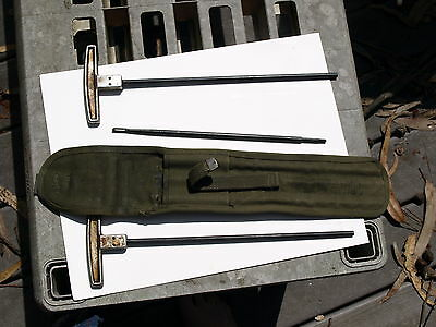 US ARMY m1 1945 cleaning rod c6573 jacklin mfg type 1 T handles US Markedlikenew