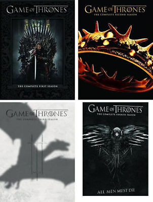 Game of Thrones: Complete Series Seasons 1-4 1 2 3  4 (2014, DVD) BRAND NEW