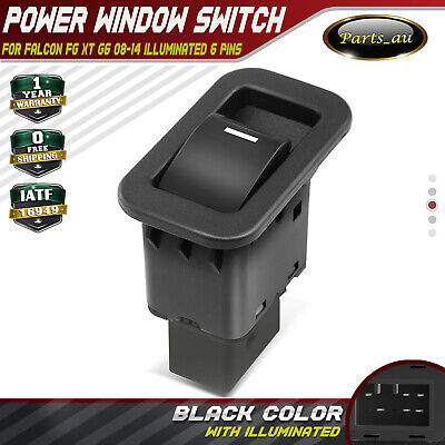 Single Power Window Switch for Ford Territory SX SY 2004-2014 illuminated Black