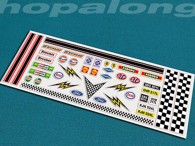 Scalextric/Slot Car 1/32 Scale Peel & Stick  Decals. ds003