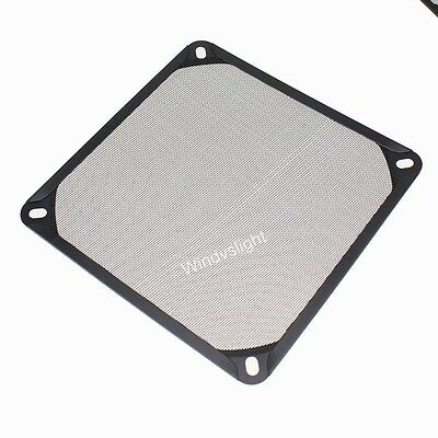 140mm PC Computer Fan Cooling Dustproof Dust Filter Case fr Aluminum Grill Guard