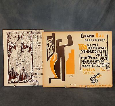 GREAT Pr. of  ORIGINAL LITHOGRAPHIC PRINTED TICKETS by LARIONOV &  GONCHAROVA