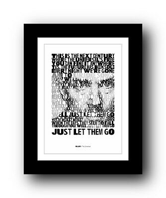 BLUR The Universal  ❤  song lyrics typography poster art print