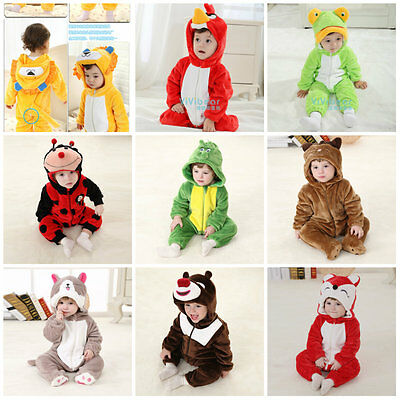 2016 New Deluxe Toddler Fancy Dress Party Jungle Animal Costumes Size 3-24months
