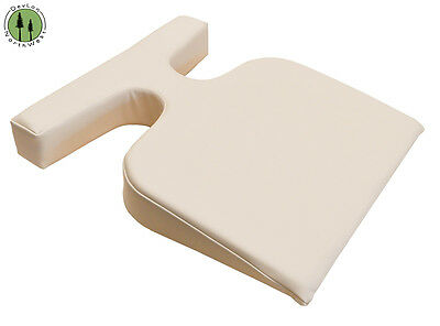 Massage Table T-Wedge + Breast Bolster Cushion + Feminine Pillow + Color Beige