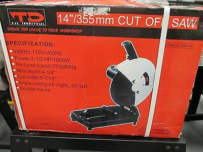 "14""/355Mm Cut Off Saw Tjl Industrial Volt/hz 110V/60Hz 10031-N (Wh-4208)"