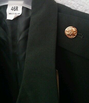 Army Class-A Green Uniform Dress COAT Jacket 46R WITH MILITARY PATCHES BUTTONS