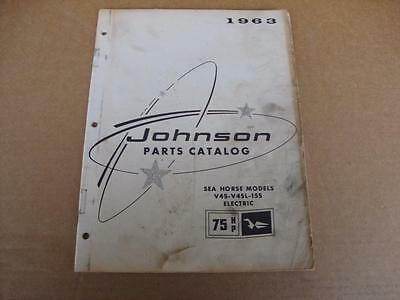 1963 Johnson Sea Horse 75 HP outboard parts catalog 379275 V4S V4SL 15S