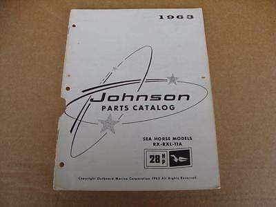 1963 Johnson Sea Horse 28 HP outboard parts catalog 379271 RX RXL 11A
