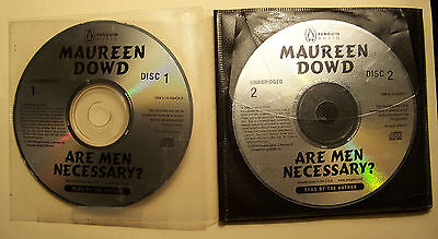Are Men Necessary by Maureen Dowd - PENGUIN Audio Books -  7 Compact DISC CD Set