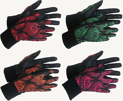 CHILDRENS Summer Horse Riding Gloves Small Medium Large New