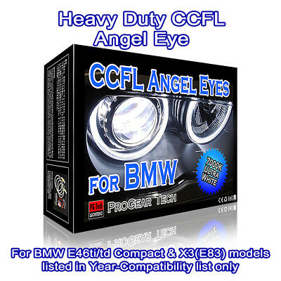 Heavy Duty 7000K White BMW CCFL Angel Eyes Rings ExtraE46 ti td E83 X3