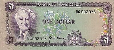 Jamaica 1960 Uncirculated One (1) dollar note