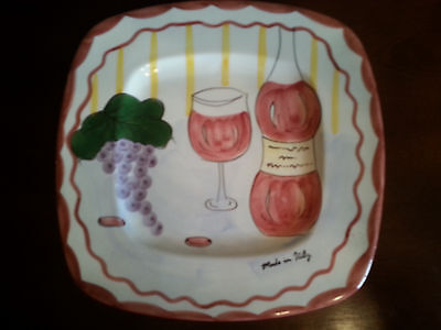 Made in Italy wine cheese cracker plate