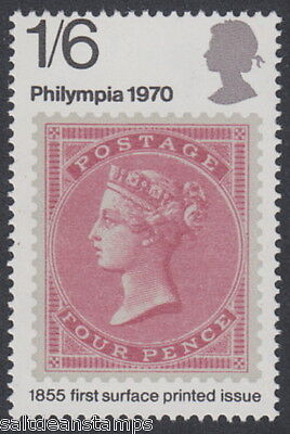 """GREAT BRITAIN - 1970 1s.6d. """"Phylimpia 70"""" Phosphor Omitted Error - UM / MNH*"""