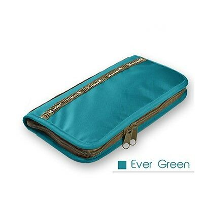 Travel Organizer Pouch Bag Ever Green Easy Holder Credit Card Passport Key Coin