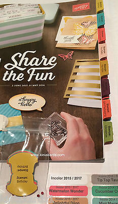 Stampin' Up! 2015 - 2016 Printed Index Catalogue Tabs & Incolor File Tab Labels