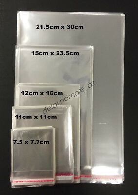Premium Peal And Seal Clear Cello Bags For Cards Photos Gift Food Packaging Vic