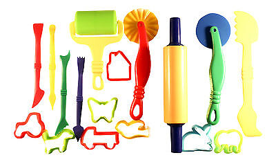 Dough Tools Play Set 17 Pieces Dough Cutter Clay modelling Doh Cookie