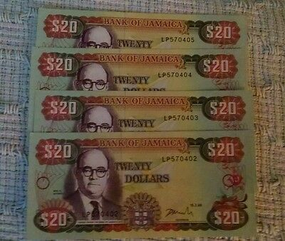 Jamaica, very nice, 15.2.99, p72f, 2 consecutive UNC, low start free US shipping