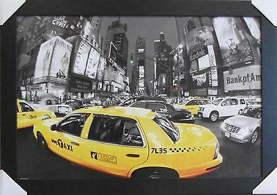 New York Times Square Taxi Framed Psoter