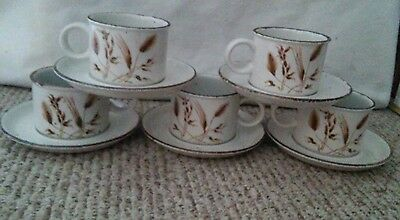 Wedgewood Stonehenge Midwinter oats coffee mug cup and saucer wild oats