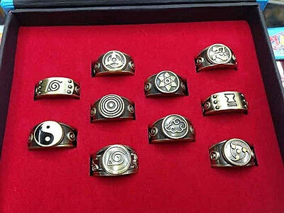 Title1198 Cosplay Naruto Xiao Organization Ring Full Set of 10 With box