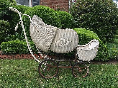 Vintage Early 1800s-1900s Baby Carriage By C.H.Hartshorn Inc.