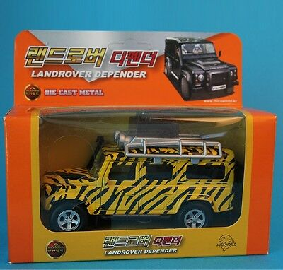 MICA LANDROVER DEPENDER Die-cast Metal Miniature Scale 1:35 pull back