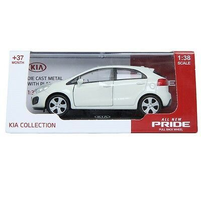 PINO B&D KIA All New Pride 1:38 Diecast Miniature Display Front Door White