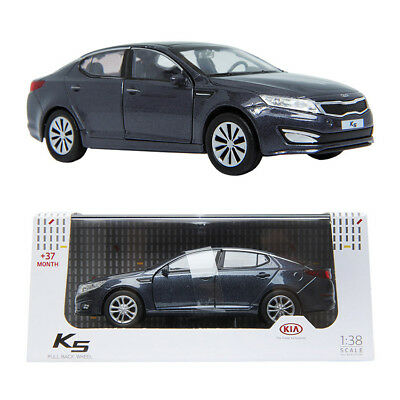 PINO B&D KIA K5 1:38 Diecast Miniature Display Front Door Gravity BLUE