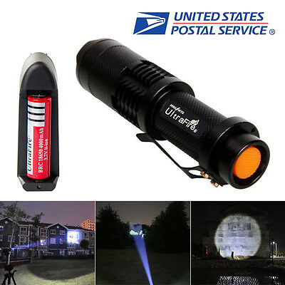 UltraFire 1800LM CREE XM-L T6 LED ZOOMABLE Flashlight+18650 Battery&Charger USA