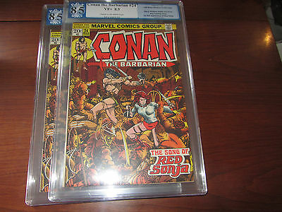 Conan the Barbarian 24 PGX (CGC) 8.5 VF+, 1st full Red Sonja (Marvel 1973)