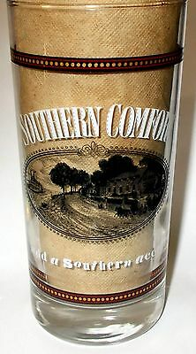 VINTAGE HEAVY SOUTHERN COMFORT GLASS - MINT CONDITION - CLEAR, NICE LOGO