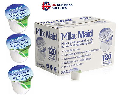 240 UHT Millac Maid Skimmed Milk Jigger Portions £8.14 per Pack UK Brand