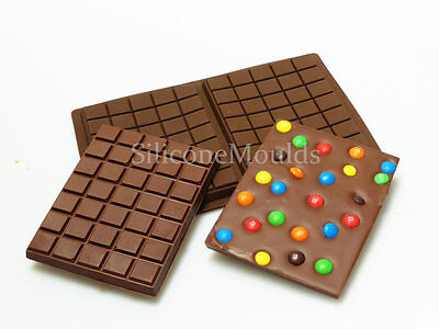 2 cell Large Slab Bar 275g Chocolate Candy Chocolatier Artisan Silicone Mould