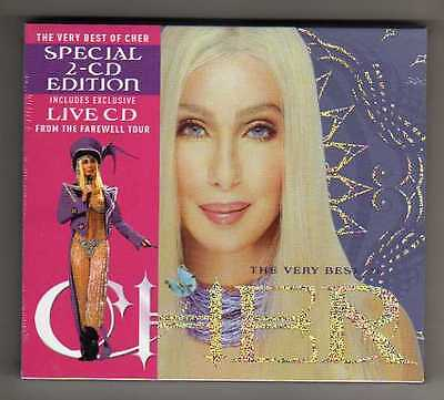 "CHER - ""THE VERY BEST OF CHER"" - 2 CD DIGIPACK SEALED MINT Digipack"