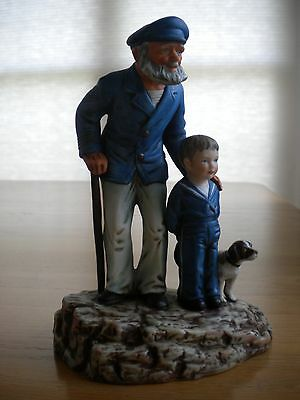 """Norman Rockwell's """"LOOKING OUT TO SEA"""" Porcelain Sculpture, 1981"""