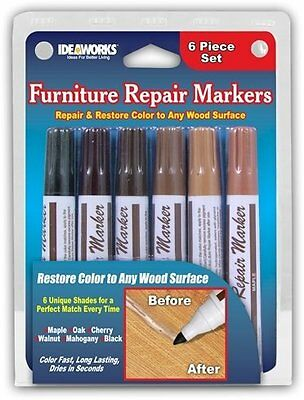 Useful Total Furniture Repair System Kit ,12 piece Markers, Fillers, Touch-ups