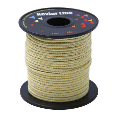 100ft 750lb Braided Kevlar Line for Kite Flying Camping Survival Outdoor Rescue