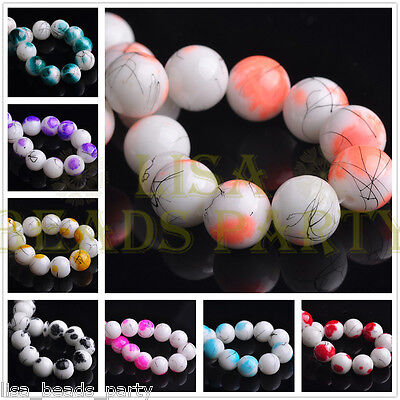 NEW 10/12mm Round Ball Crystal Glass Bead Jewelry Making Loose Spacer Beads Bulk