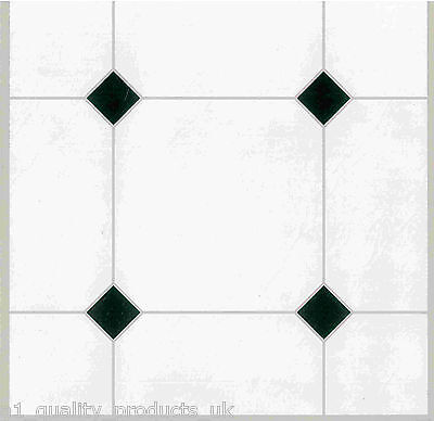 44 x Vinyl Floor Tiles - Self Adhesive - Bathroom / Kitchen / Dining, BNIB White