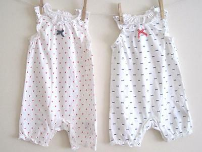 New baby girls summer playsuit Prem NB 0-3 3-6 6-9 9-12 12-18 18-24 months 2-3