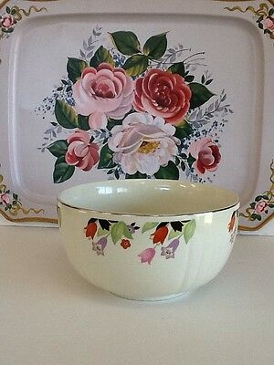 Vintage HALL SUPERIOR QUALITY Mixing/Serving Bowl Crocus Pattern