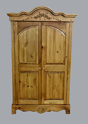 Country French Armoire, Pine, Hand carved roses and vines, Made in  USA