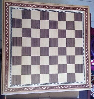 Helen Chess Inlaid Wood Board Game with High Quality Weighted Wooden Pieces 15""