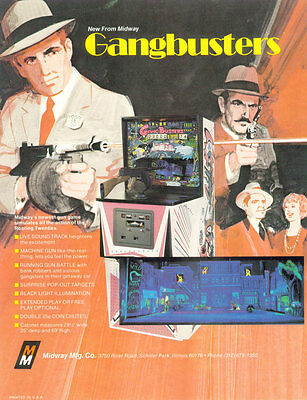 1974 Midway Gangbusters Arcade Flyer