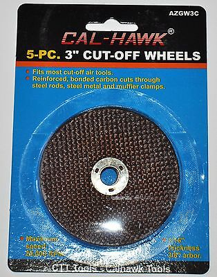 """New 5 Piece 3"""" inch metal cut off wheel disc for Die Grinder 1/16"""" thick three"""