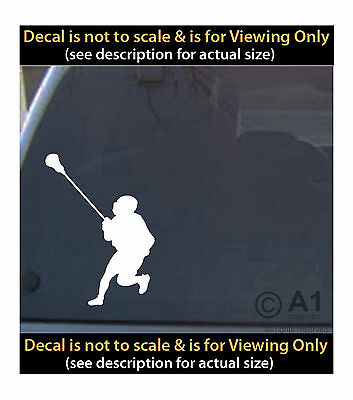 lacrosse player 6 inch decal 4 car truck home laptop fun more SPT_61